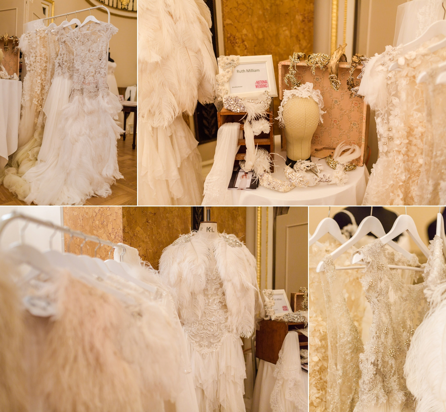 Beaded and Feathered Gowns by Ruth Milliam