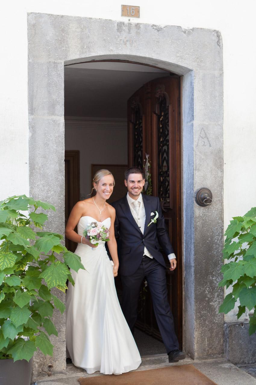 Bride Arriving with Groom