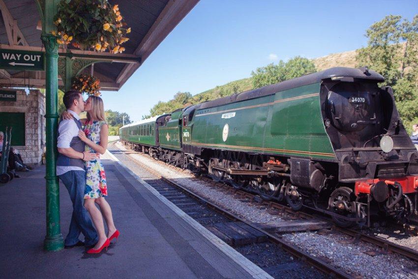 Railway engagement shoot