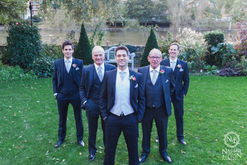 Groomsmen formal shot