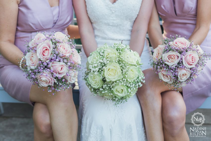 roses and gypsophila bouqet