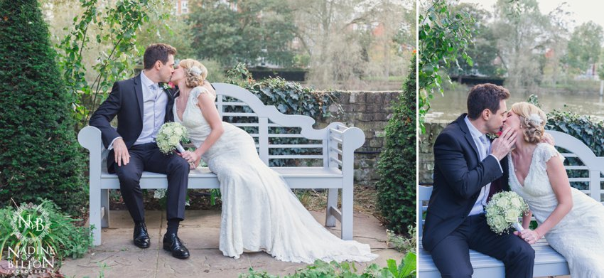 beautiful bride and groom poses