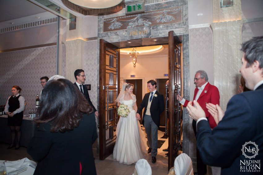 wedding in Mayfair Room at Connaught