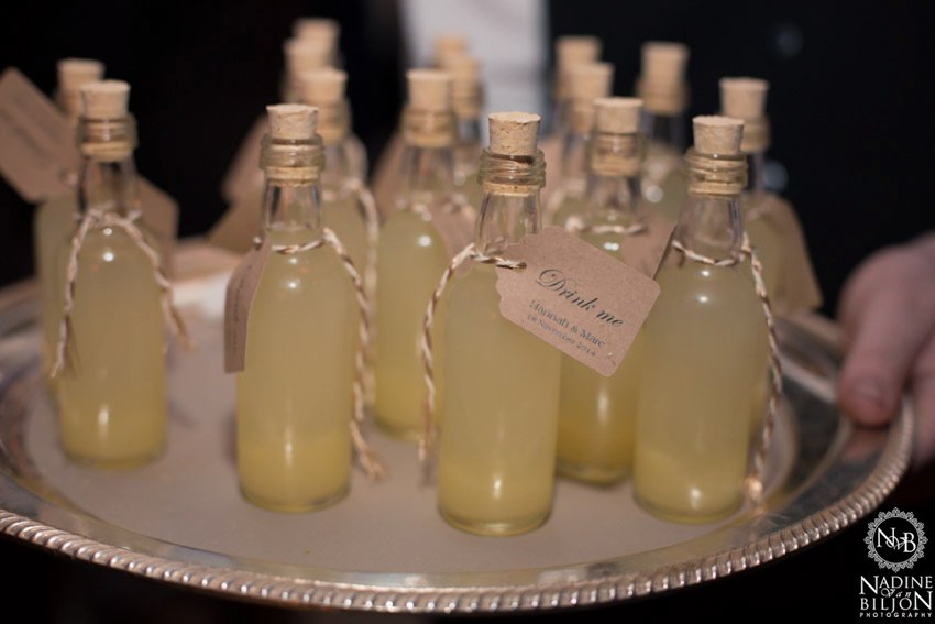 Limoncello shots at wedding