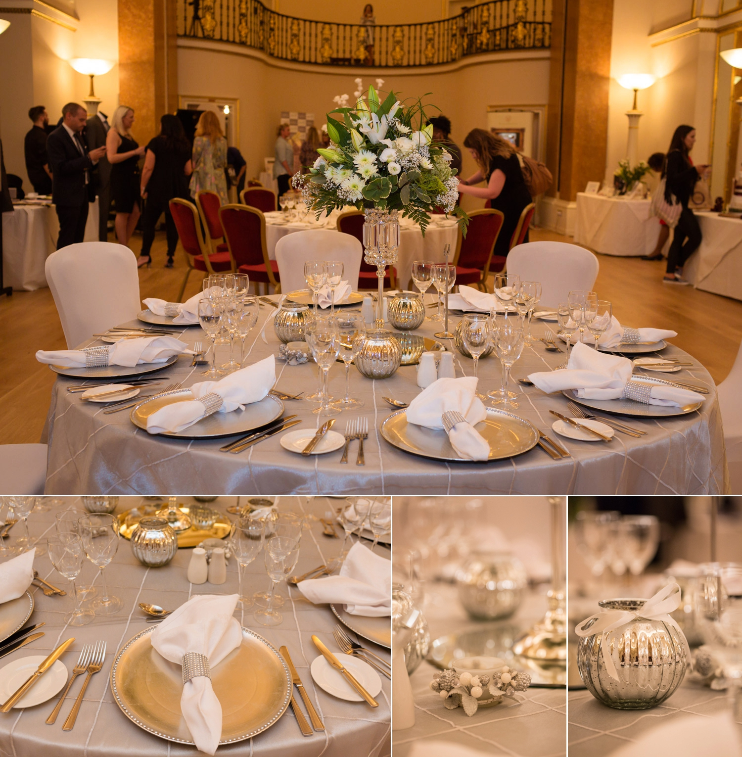 Silver and Gold Table Settings
